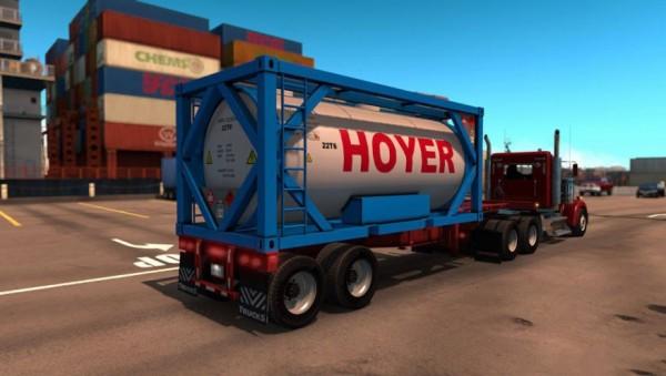 Прицеп Gooseneck Tank 20foot для American Truck Simulator