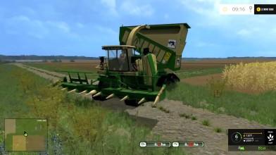 Видео обзор мода комбайна KRONE BIG X 650 CARGO BEASTPACK для игры Farming Simulator 15