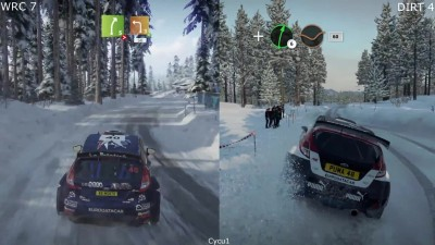 Сравнение - WRC 7 vs DiRT 4 PS4 Pro (Cycu1)