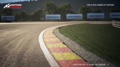 Геймплей Assetto Corsa Competizione на трассе Spa