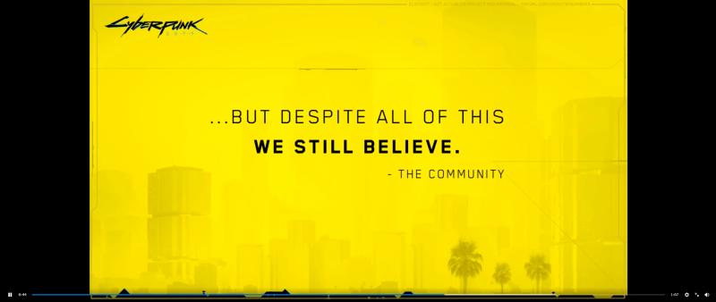 ...Но несмотря на это, мы все еще верим.