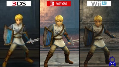 Hyrule Warriors | Switch VS WiiU VS 3DS | Сравнение графики