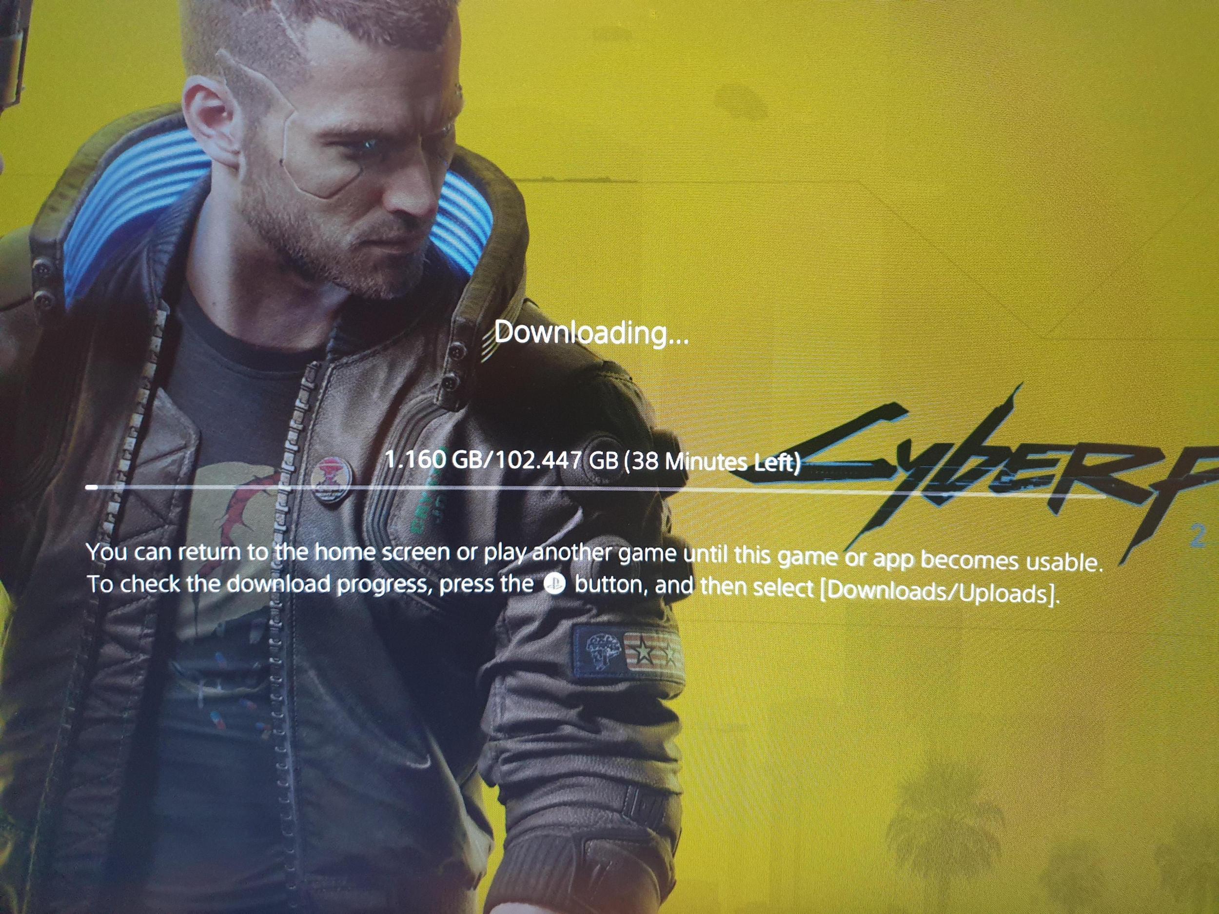 Размер дистрибутива Cyberpunk 2077 на PS4 и PS5 составит рекордные 102 Гб