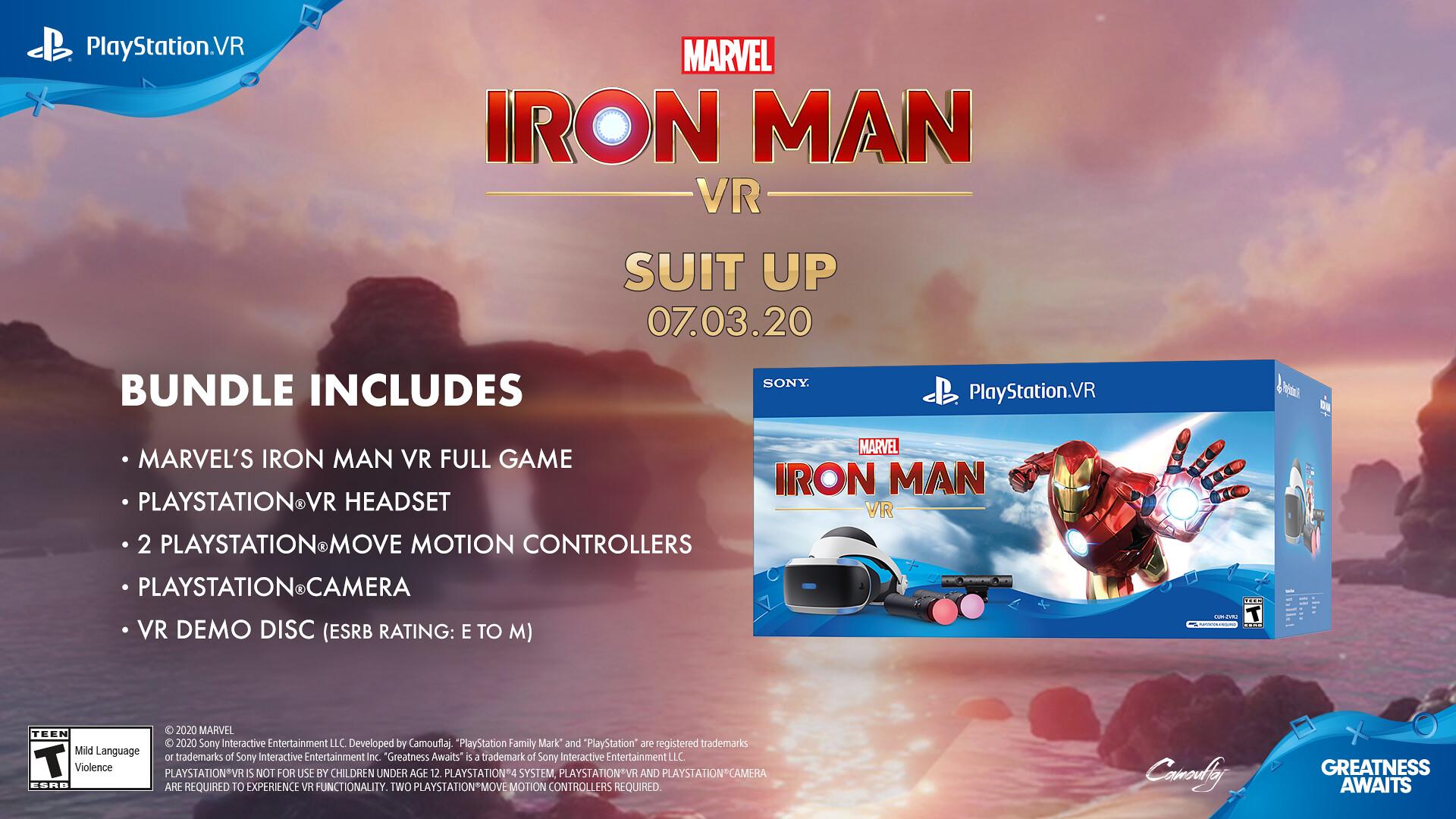 Демоверсия Marvel's Iron Man VR уже доступна, анонсирован комплект PlayStation VR
