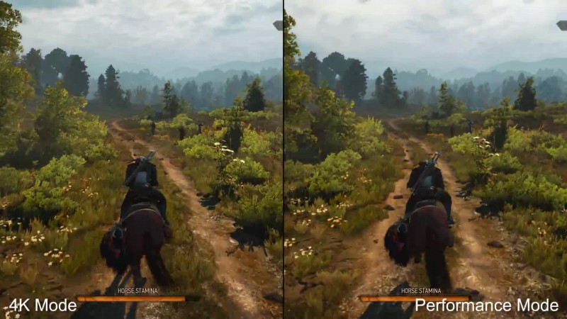 The Witcher 3: Wild Hunt - сравнение игры на PS4 Pro и Xbox One X