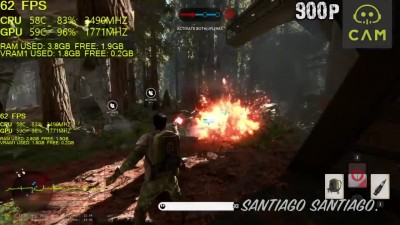 Star Wars Battlefront - GTX 1050 2GB - G4560