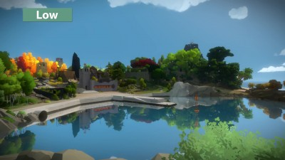 "The Witness ""Сравнение PC Low vs. Medium vs. High"""