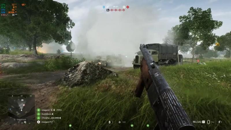 Battlefield V - Тесты трассировки лучей на GTX 1060