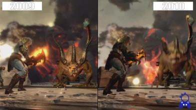 Сравнение графики - God of War III Бета 2009 VS Релиз