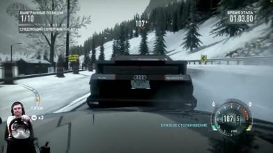 Жесть в горах Porsche 911 GT3 RS4.0 Need for Speed: The Run на руле Fanatec Porsche GT2