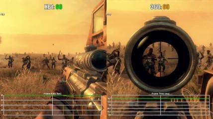 Call of Duty Black Ops 0 Xbox One(обратная совместимость) vs Xbox 060 Частота кадров