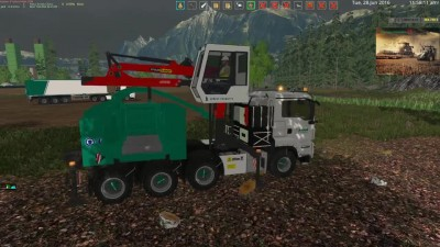 "Видео обзор мода ""AW Jenkinson Edition Forest Trucks and Trailers Pack v 1.0"" для игры Farming Simulator 15"