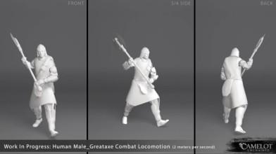 Camelot Unchained - Демонстрация анимации движения персонажа с двуручным топором