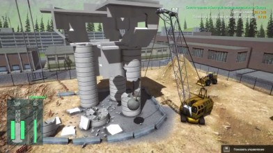 "Construction Machines Simulator 2016 ""Падение башни ч6"""