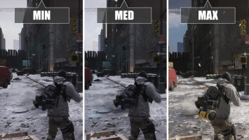 "The Division Beta ""Сравнение PC - Min vs Med vs Maximum"""