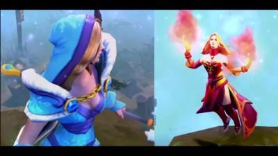 ��������� ��� ����� � Dota 2 : Lina Vs Crystal maiden