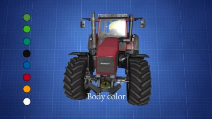 Мод трактора FENDT 800 Favorit для игры Farming Simulator 17
