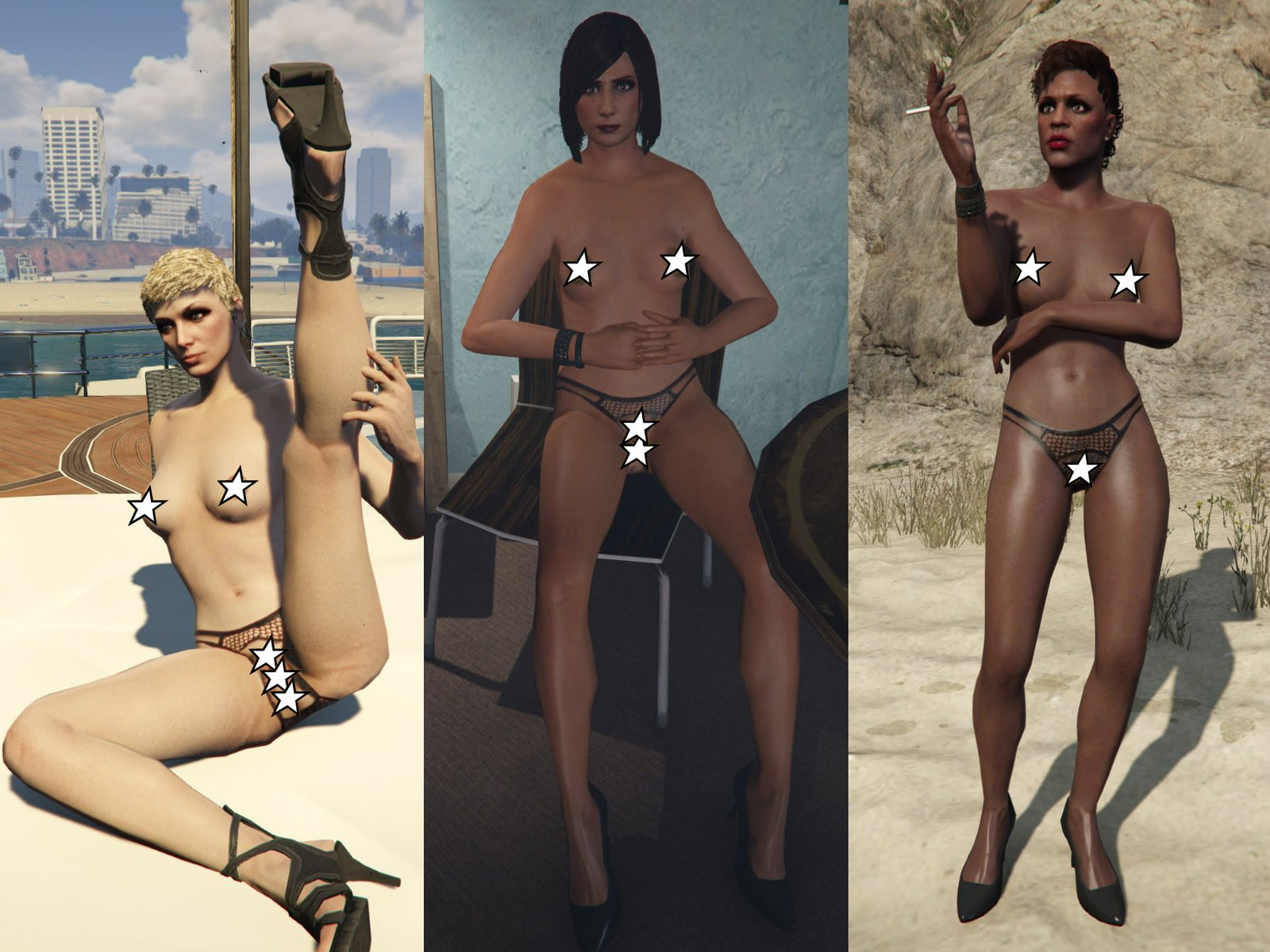 Lea naked girls in grand theft auto voyeur