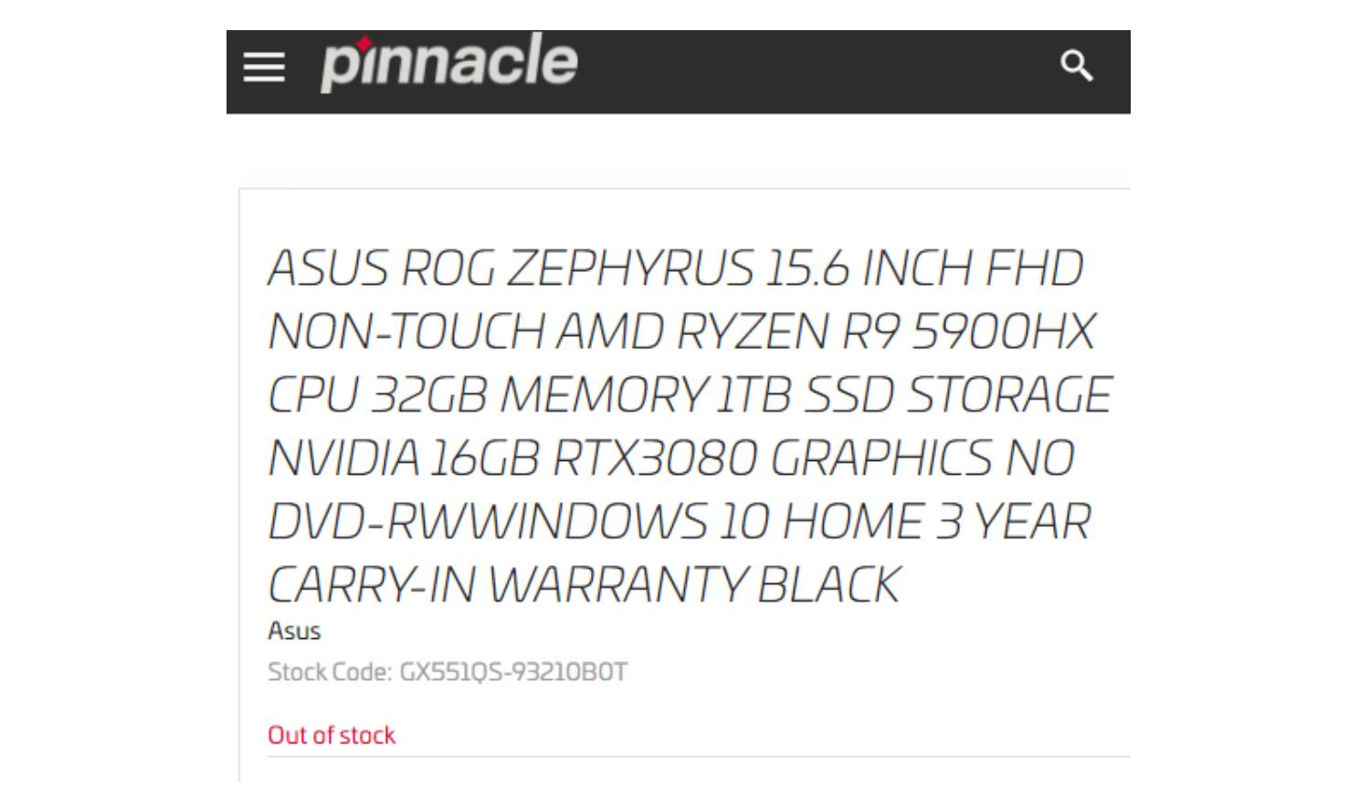 8 ядер и 16 потоков для ноутбука c поддержкой разгона. Флагманский AMD Ryzen 9 5900HX засветился