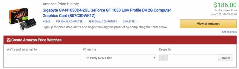 Из-за дефицита видеокарт Gigabyte возвращает в продажу GeForce GT 1030, но цена шокирует