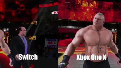 WWE 2K18: Сравнение графики Nintendo Switch Vs. Xbox One X
