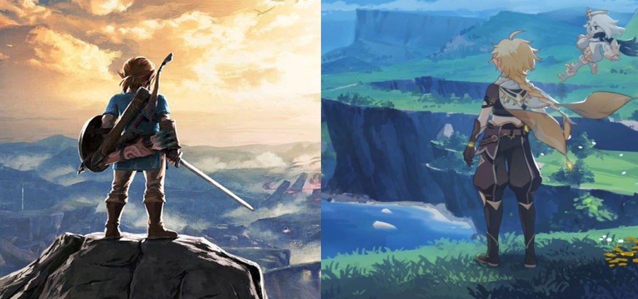 Клон против оригинала - опубликовано видео со сравнением Genshin Impact и The Legend of Zelda: Breath of the Wild