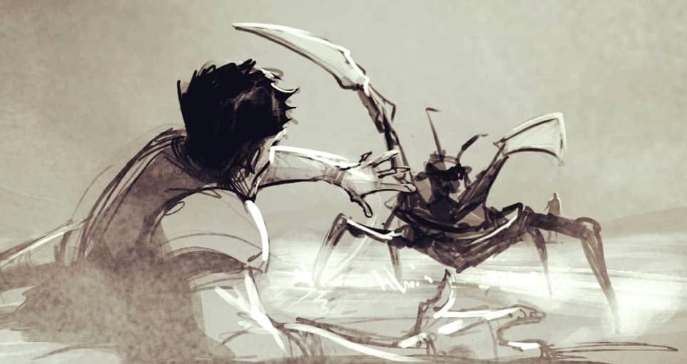 Нападение на карету с Йеннифэр и Калис на раскадровках сериала The Witcher