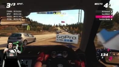 Отжал Dodge Challenger SRT8 - Forza Horizon на Xbox One + руль Fanatec CSL Elite