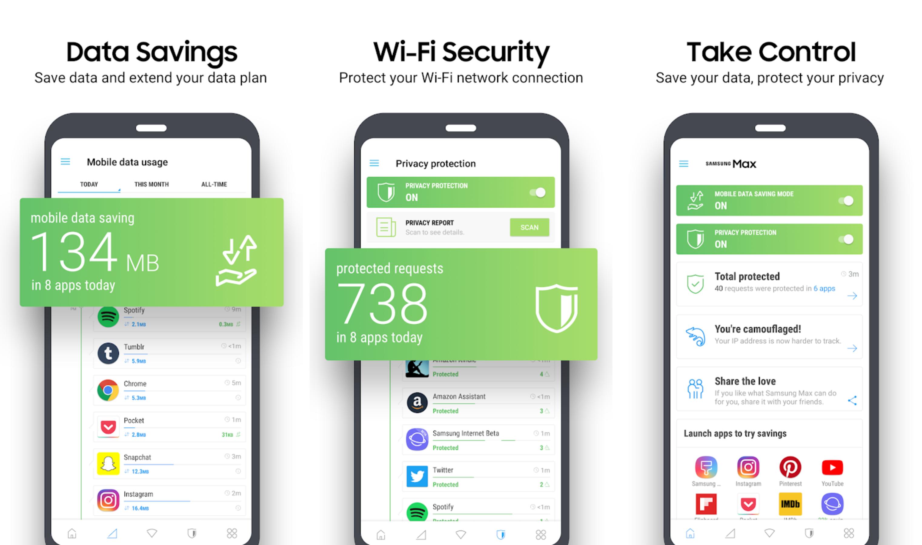 Приложение Samsung Max поможет сэкономить мобильный трафик