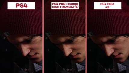 InFamous: Second Son Сравнение графики:PS4 Pro vs. PS4 (IGN)