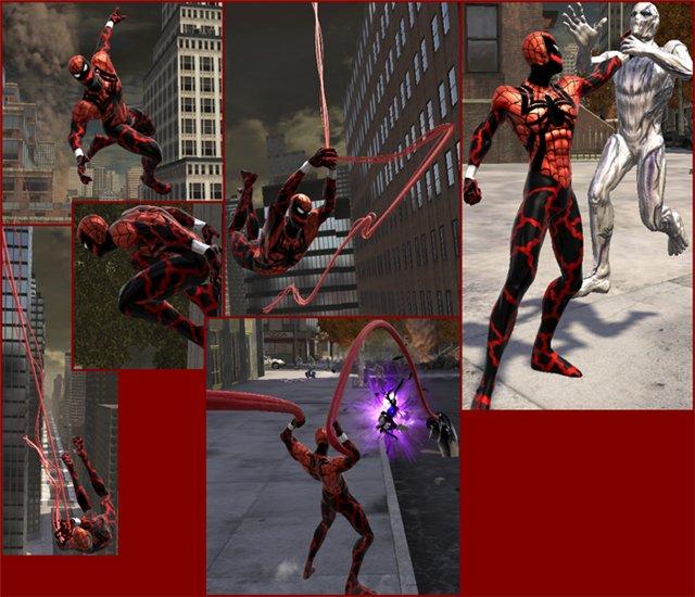 """Spider-Man: Web of Shadows """"Скин Spider-Carnage"""" - Файлы ..."""