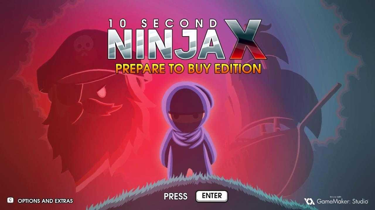 Интересный платформер 10 Second Ninja X - стал временно бесплатным в Steam