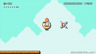 Super Shmup Bros in Super Mario Maker (+Flying Bowser Jr. Boss)