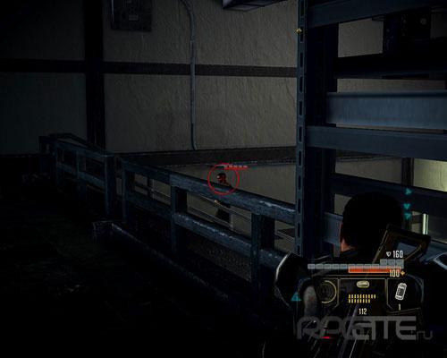 Прицельтесь в солдата на лестнице
