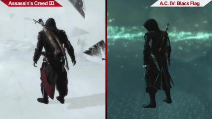 Сравнение | Assassin's Creed III (2012) vs. Assassin's Creed IV: Black Flag (2013) | на ультра настройках