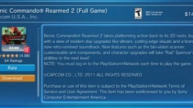 Для запуска Bionic Commando Rearmed 2 нужно подключение к PSN