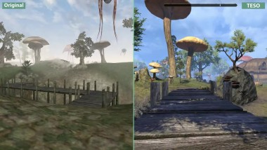 Morrowind - оригинал (2002) vs. The Elder Scrolls Online (2017) сравнение графики [Candyland]