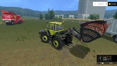 Видео обзор мод пака немецких тракторов Mercedes MB TRAC 1800 intercooler для игры Farming Simulator 15