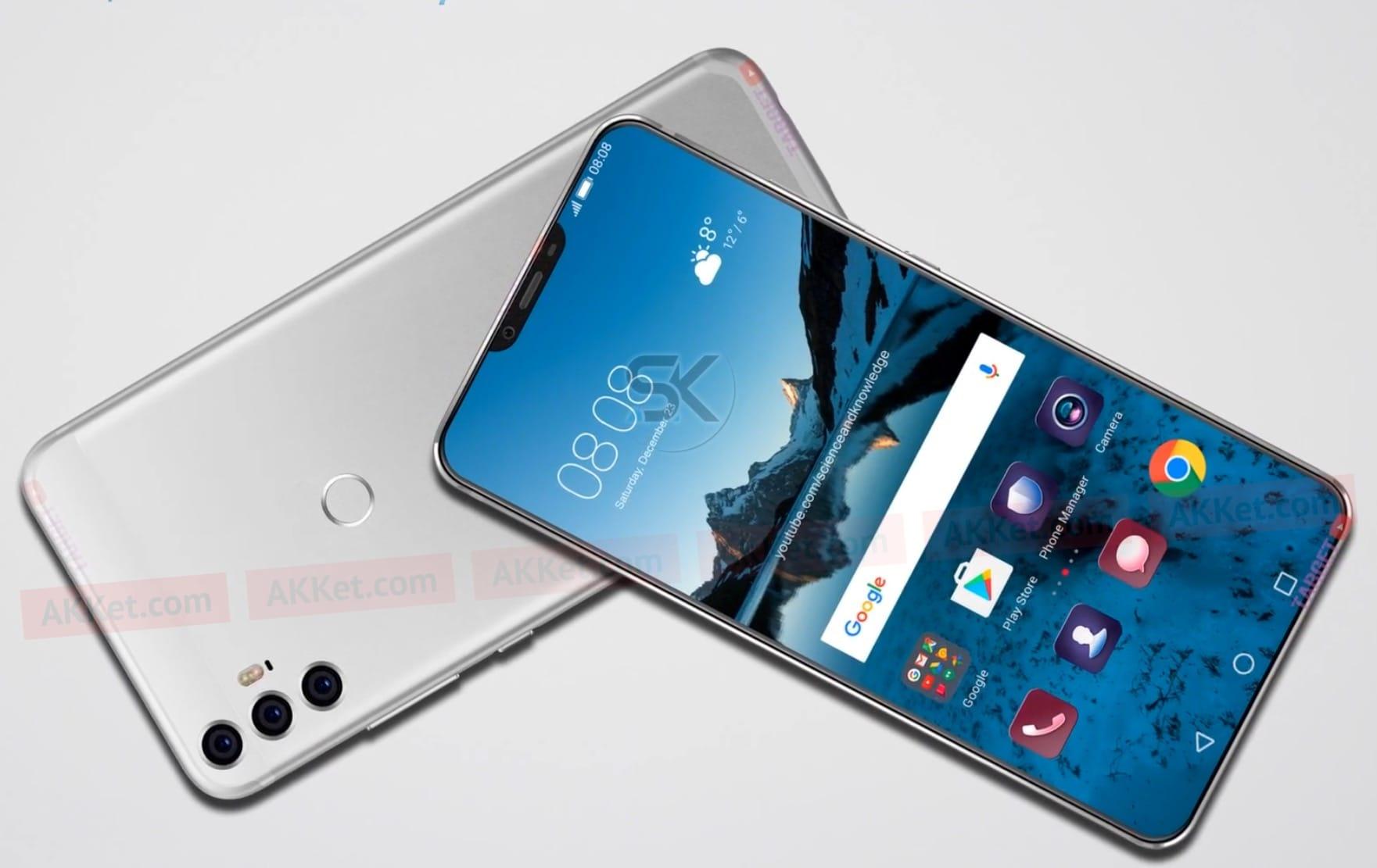 Концепт-арты Huawei P11 Xдемонстрируют смартфон стремя модулями основной камеры