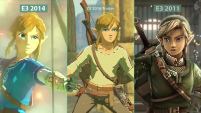 The Legend of Zelda - Breath Of The Wild E3 2011 2014 2016 - Сравнение графики
