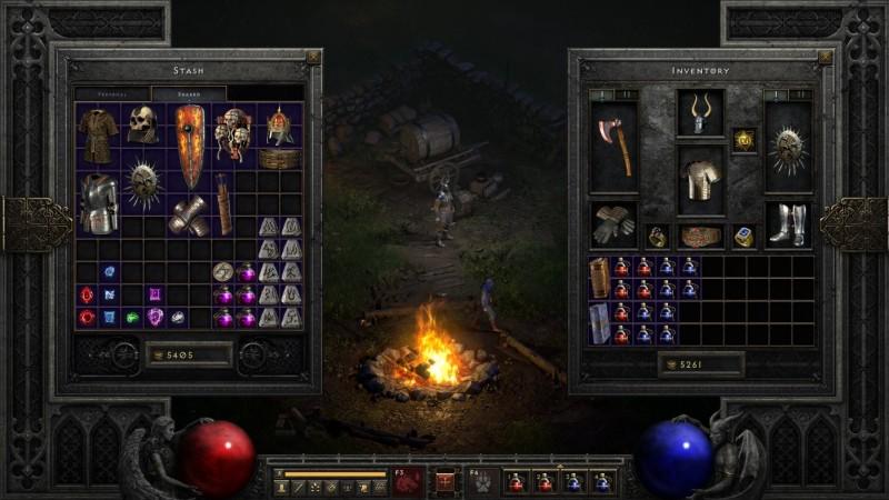Инвентарь Diablo II: Resurrected - это один из тех самых элементов, которые стали более доступными в этой версии игры.