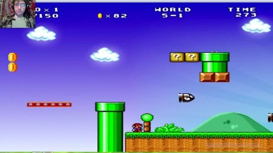 Mario Forever (SMB 3) v.6.0 (beta) - 5 уровень - Новая тушка - старая пушка (прохождение на русском))