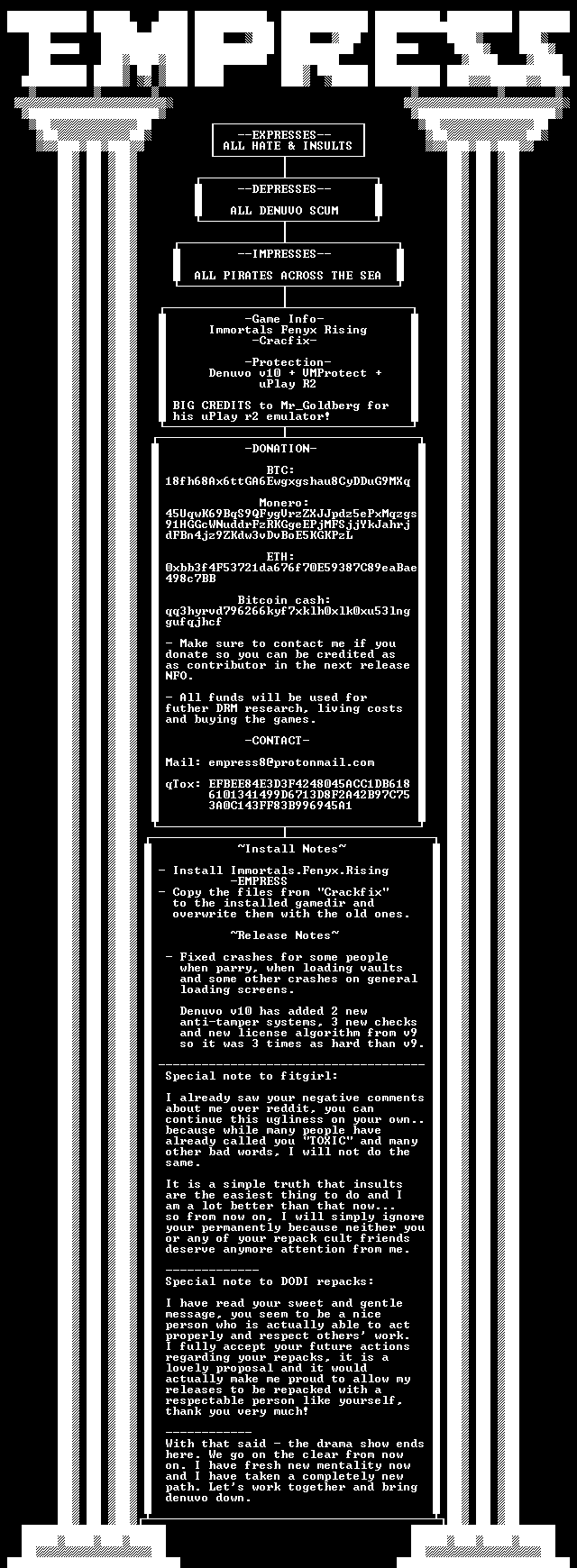EMPRESS взломала Just Cause 4: Complete Edition и выпустила Crackfix для Immortals: Fenyx Rising