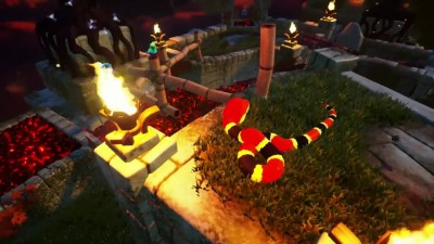 17 минут геймплея SNAKE PASS - Colorful Retro 3D Platformer