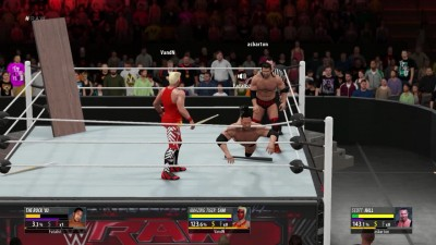 2K16 Online Triple Threat Extreme Match - Rock VS Scott Hall VS Tiger Sam