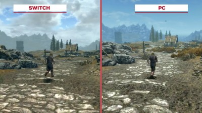 Skyrim Сравнение графики: Nintendo Switch vs. Original vs. Remaster (IGN)