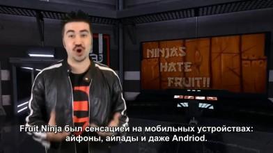 Fruit Ninja Kinect - обзор от Angry Joe [Русская озвучка]