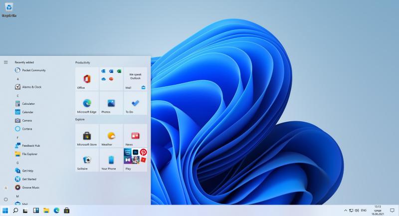 """В Windows 11 можно вернуться к старому меню """"Пуск"""" от Windows 10"""