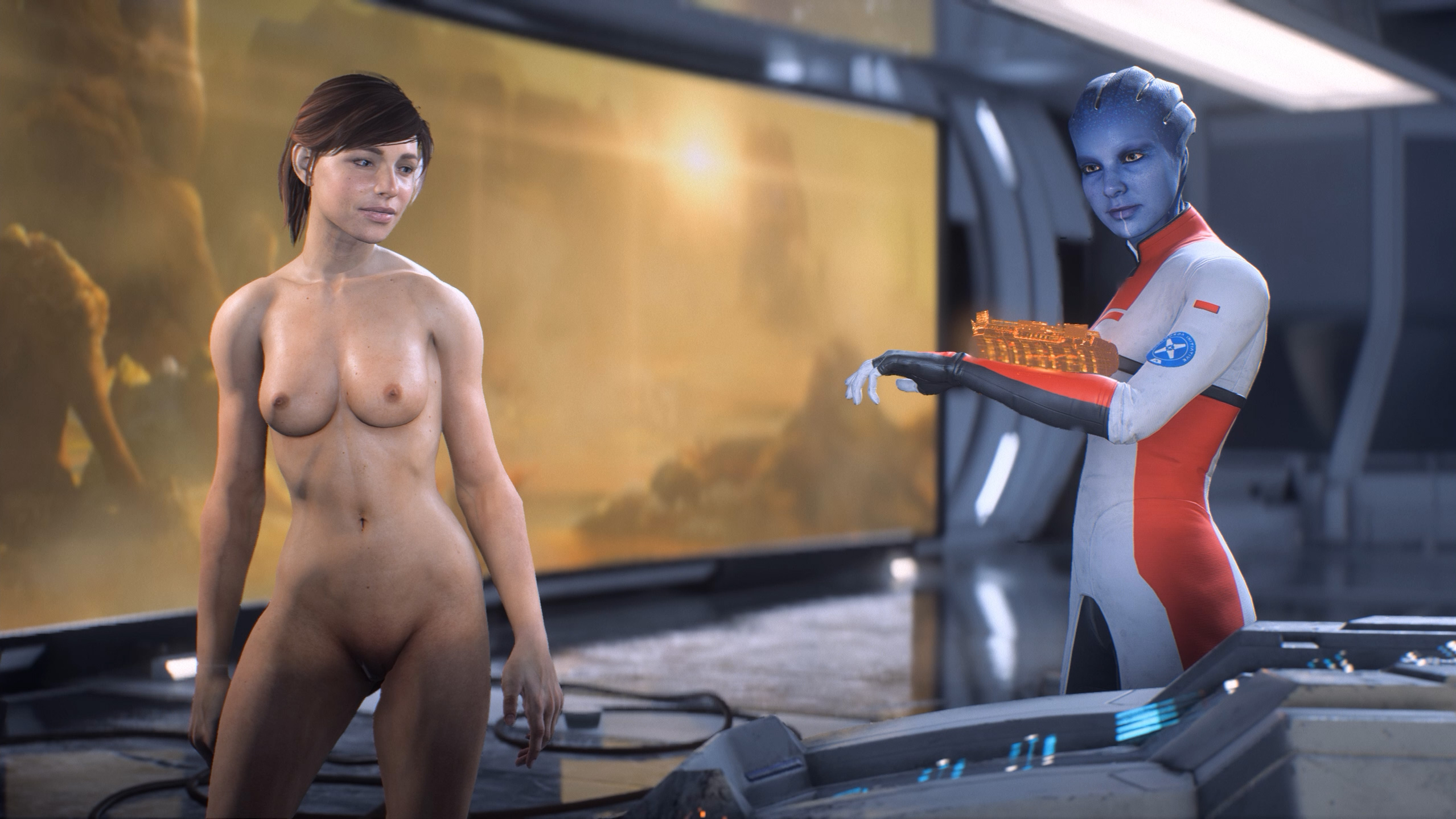 Mass effect nude modes sexy curvy girls