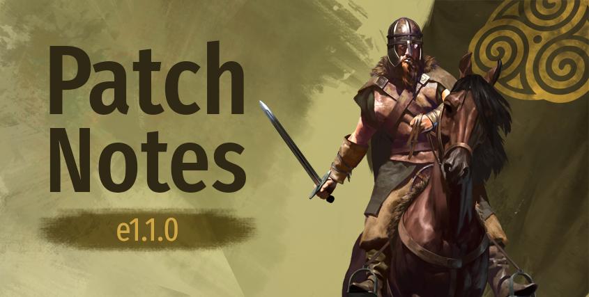 Крупный патч версии 1.1.0 для Mount & Blade 2: Bannerlord теперь доступен для основной сборки